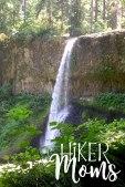 Hiker Moms Silver Falls State Park Silverton Sublimity Oregon Twin Falls Upper North Falls Middle North Falls Winter Falls hike Kids middle falls waterfall