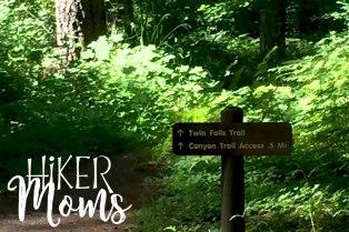 Hiker Moms Silver Falls State Park Silverton Sublimity Oregon Twin Falls Upper North Falls Middle North Falls Winter Falls hike Kids signage