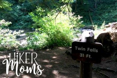 Hiker Moms Silver Falls State Park Silverton Sublimity Oregon Twin Falls Upper North Falls Middle North Falls Winter Falls hike Kids Twin Falls Sign 31 feet