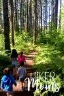 Hiker Moms Silver Falls State Park Silverton Sublimity Oregon Twin Falls Upper North Falls Middle North Falls Winter Falls hike Kids travel trail
