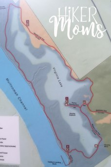 Virginia Lake Sauvie Island Portland Oregon Hiker Moms Hike Oregon Hiking kids trail feature map close up