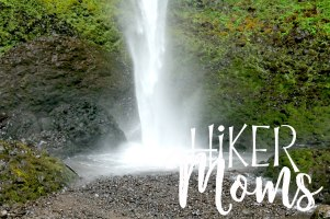 Latourell Falls Short Hike Portland Oregon Hiker Moms Hike Trails Outdoors base of the waterfall