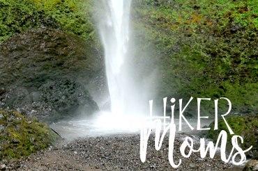 Latourell Falls Short Hike Portland Oregon Hiker Moms Hike Trails Outdoors base of the waterfall