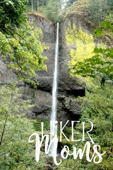 Latourell Falls Portland Oregon Hiker Moms Sign Salem Hike full view