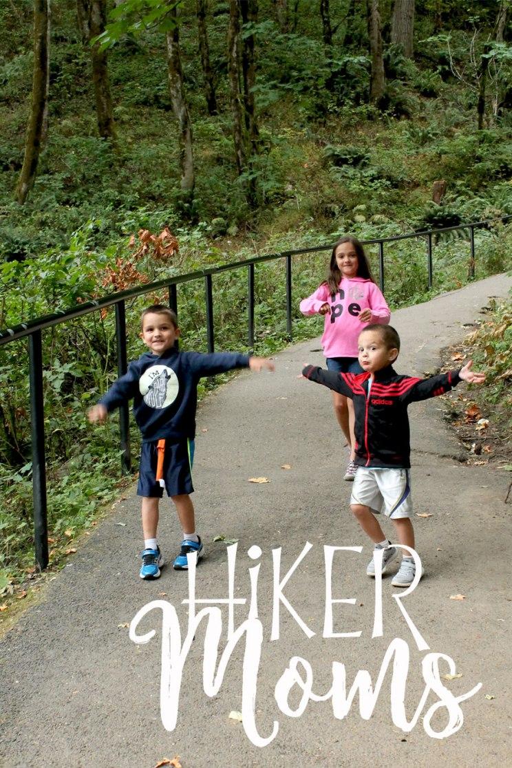 Latourell Falls Portland Oregon Hiker Moms Sign Salem Hike my 3 kids