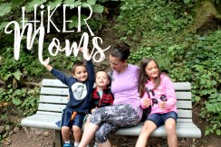 Latourell Falls Portland Oregon Hiker Moms Sign Salem Hike me and my kids doing what they do best