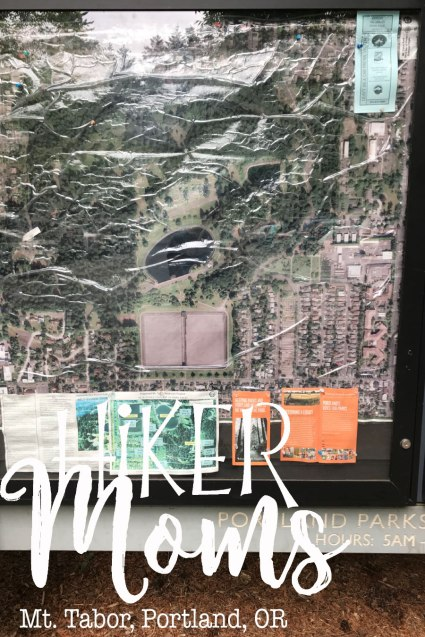 Mt Tabor, Portland, Oregon, Map, Trail, HikerMoms, Hike, HikeOregon