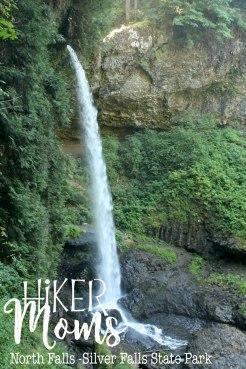 HikerMoms, huge, under the waterfall, Hike, Oregon, North Falls, Salem, Silverton, Silver Falls, Views, Stream