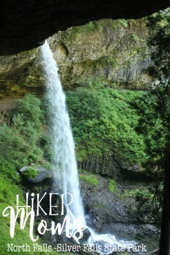 HikerMoms, under the waterfall, Hike, Oregon, North Falls, Salem, Silverton, Silver Falls, Views, Stream